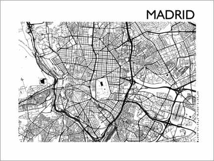 Gallery Print  Stadtplan von Madrid - 44spaces