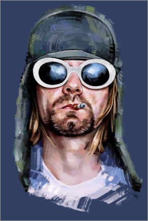 Holzbild  Kurt Cobain - Dmitry Belov