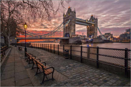 Premium-Poster Tower Bridge im Abendrot