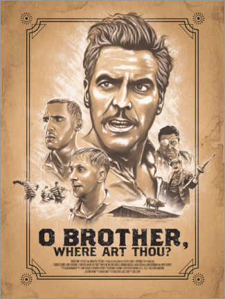 Wandsticker  O Brother, Where Art Thou - The Usher designs