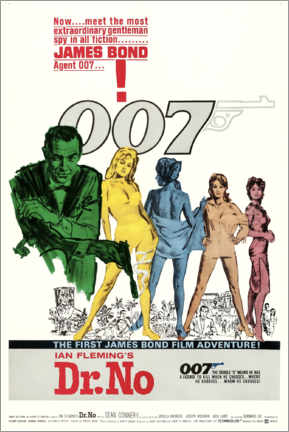 Premium-Poster James Bond - 007 jagt Dr. No (Englisch)