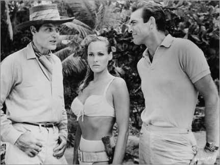 Premium-Poster Jack Lord, Ursula Andres and Sean Connery in Dr. No