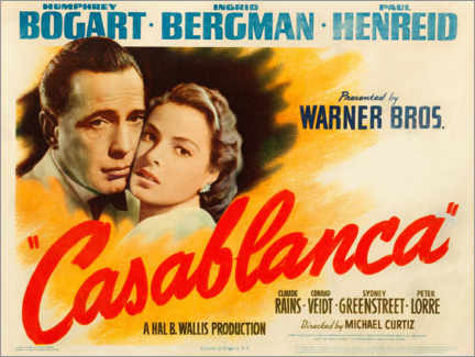 Premium-Poster  Casablanca (Englisch) - Entertainment Collection
