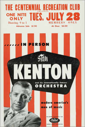 Wandsticker  Stan Kenton and his orchestra - Entertainment Collection