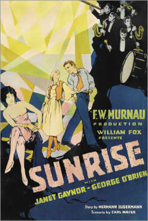 Premium-Poster Sunrise with Janet Gaynor