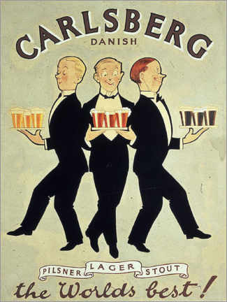 Holzbild  Carlsberg - Advertising Collection