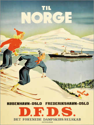 Premium-Poster  Nach Norwegen - Travel Collection