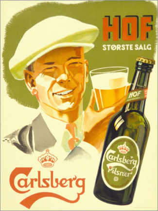 Leinwandbild  Carlsberg -  Hof Største Salg - Advertising Collection