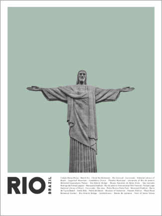 Premium-Poster  Sehenswürdigkeiten in Rio - Finlay and Noa
