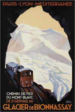 Premium-Poster  Bergbahn am Mont Blanc - Advertising Collection