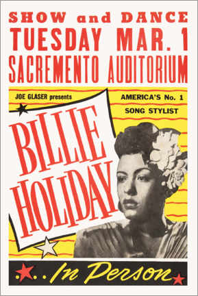 Holzbild  Billie Holiday - Entertainment Collection
