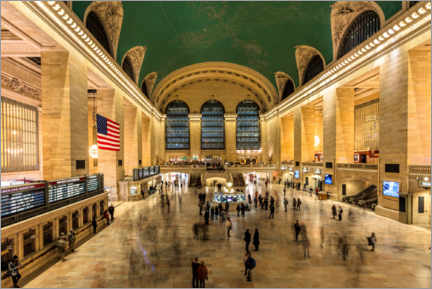 Premium-Poster  Grand Central Station in New York - Mike Centioli