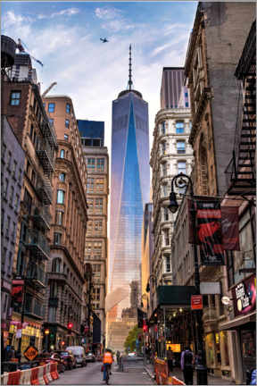 Premium-Poster  One World Trade Center in New York - Mike Centioli