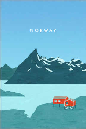 Gallery Print  Norwegen Illustration - Katinka Reinke
