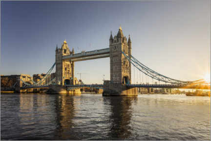 Premium-Poster London Tower Bridge bei Sonnenaufgang