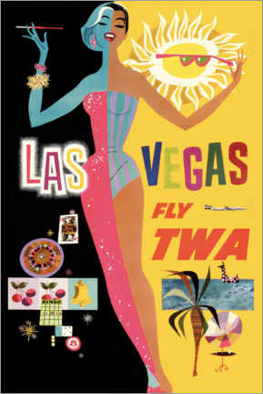 Premium-Poster  Las Vegas - Travel Collection