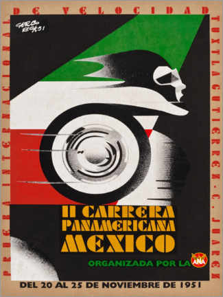 Premium-Poster  Il Carrera Panamericana Mexico - Travel Collection