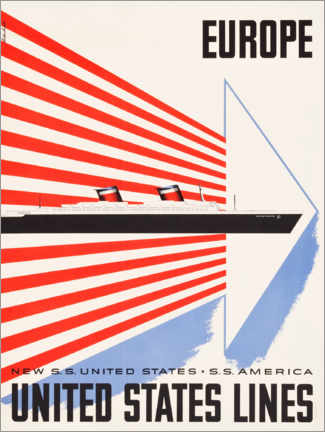 Premium-Poster  United States Lines - Travel Collection