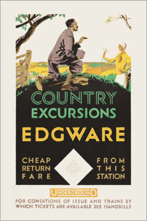 Premium-Poster  Country excursions, Egware - Travel Collection
