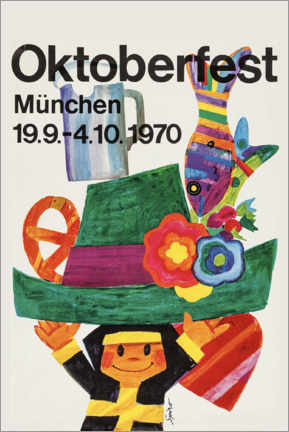 Hartschaumbild  Oktoberfest 1970 - Travel Collection