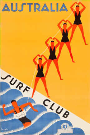 Premium-Poster  Surf Club Australia - Travel Collection