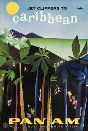 Premium-Poster  Karibik via Pan Am - Travel Collection