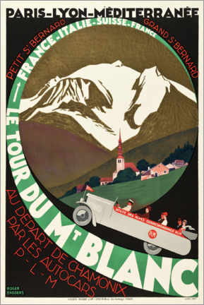 Premium-Poster  Le Tour Du Mont Blanc - Travel Collection