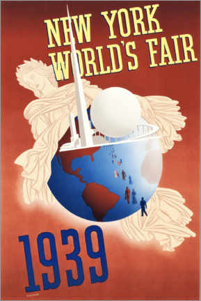 Holzbild  New York World's Fair - Travel Collection