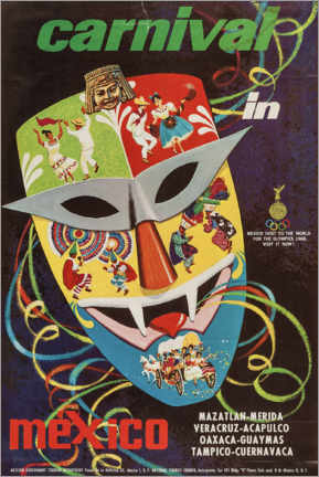Premium-Poster  Karneval in Mexico - Travel Collection