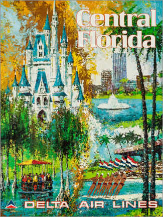 Premium-Poster  Zentralflorida - Travel Collection