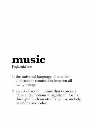 Premium-Poster Music – Definition (Englisch)