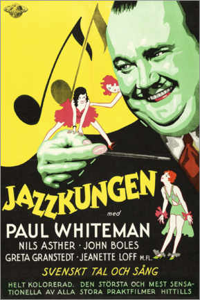 Premium-Poster  Der Jazzkönig (Schwedisch) - Entertainment Collection