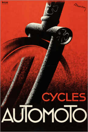 Premium-Poster  Cycles Automoto - Advertising Collection
