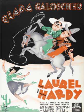 Premium-Poster  Laurel und Hardy: Zwei ritten nach Texas - Entertainment Collection