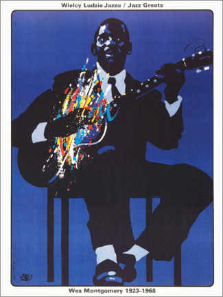 Premium-Poster  Wes Montgomery 1923 - 1968 - Entertainment Collection