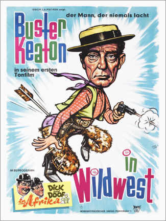 Premium-Poster Buster Keaton in Wild West
