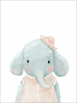 Premium-Poster  Fräulein Elefant - Kidz Collection
