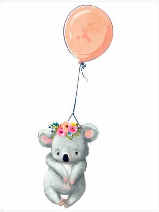 Premium-Poster  Koala mit Ballon - Kidz Collection