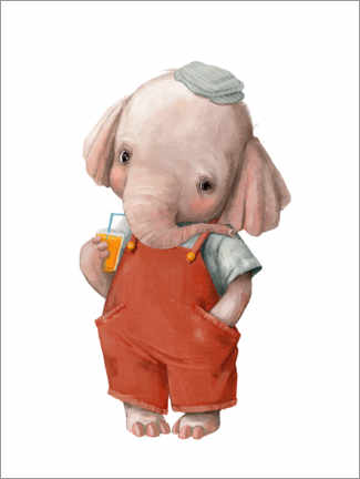 Leinwandbild  Kleiner Elefant - Kidz Collection
