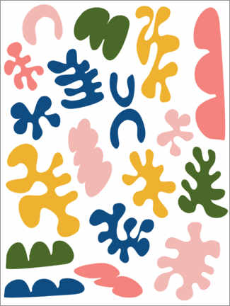 Premium-Poster  New Age Matisse - apricot and birch