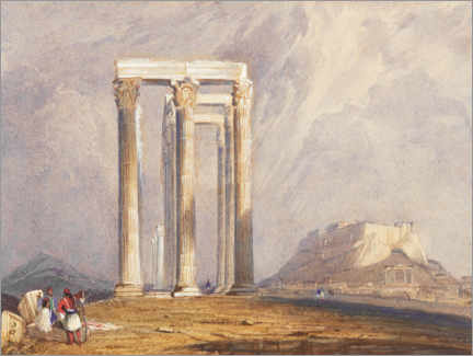Leinwandbild  Tempel des Jupiter Olympus, Athen - William Clarkson Stanfield