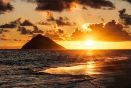 Premium-Poster  Sonnenaufgang am Meer, Hawaii - Road To Aloha