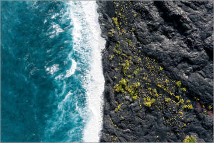 Gallery Print  Lavafeld trifft Ozean - Road To Aloha