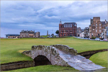 Leinwandbild  Swilcan Bridge auf dem Old Course in St. Andrews - Mike Centioli