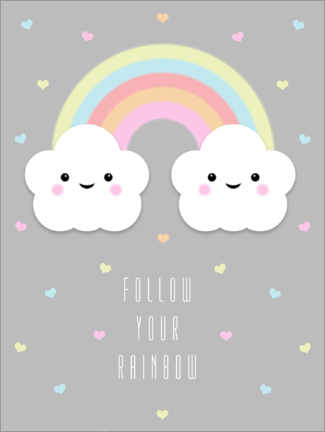 Premium-Poster Follow your rainbow