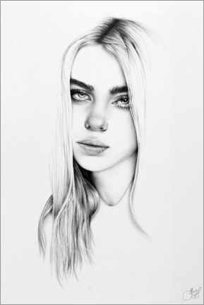 Premium-Poster Billie Eilish