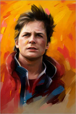 Premium-Poster Marty McFly