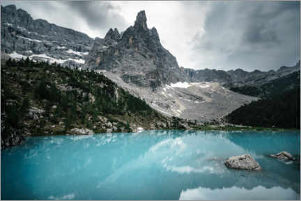 Premium-Poster  Bergsee in den Dolomiten - Road To Aloha