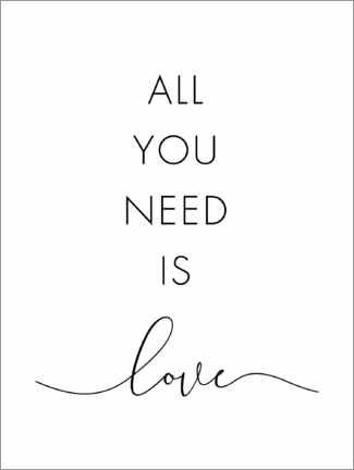 Wandsticker  All you need is love - Nouveau Prints