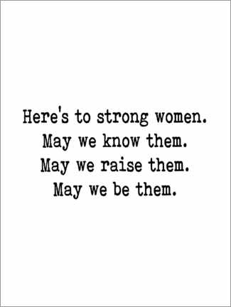 Holzbild  Here's to strong women - Finlay and Noa